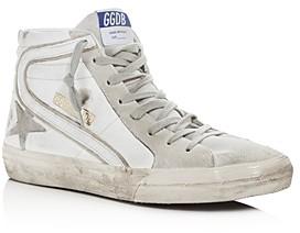 Golden Goose Unisex Slide Leather High-Top Sneakers