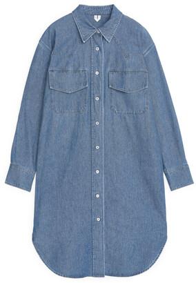 Arket Denim Shirt Dress