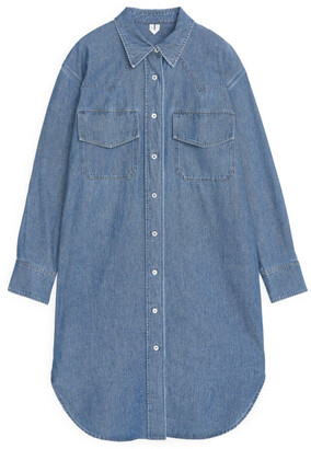 Arket Denim Shirt Dress