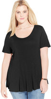 American Rag Trendy Plus Size Seamed Swing Top, Only at Macy's