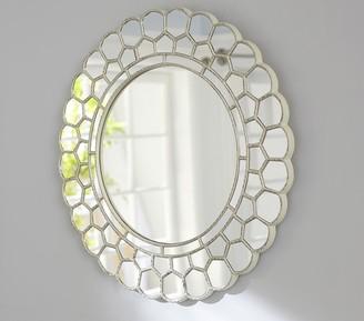 Pottery Barn Kids White Circle Blossom Mirror