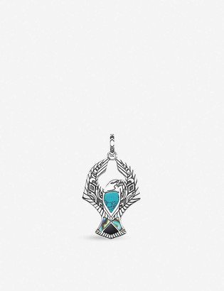 Thomas Sabo Rebel at Heart eagle sterling silver, turquoise and abalone pendant
