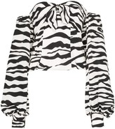 ATTICO The zebra-print pouf-sleeve blouse