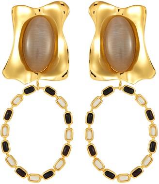 EJING ZHANG 'Rhode' pendant earrings