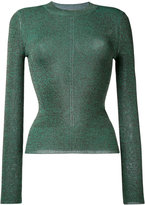 Christopher Kane metallic knitted top