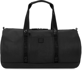 BOSS Hyper black coated nylon holdall