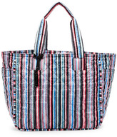 Le Sport Sac Claudia Stripe Quilted Large Tote