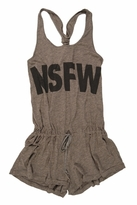 Rebel Yell Not Suited For Work Scrunchie Romper in Heather Grey Peach