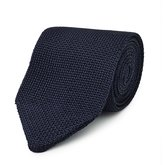 Reiss Canter - Knitted Silk Tie in Blue, Mens
