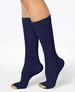 Gold Toe Wellness Women's Compression Moderate Ribbed Calf Socks