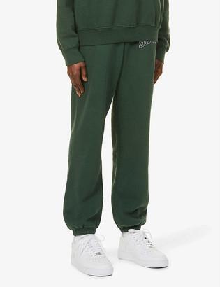 Sporty & Rich Varsity brand-print cotton-jersey jogging bottoms