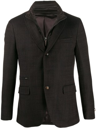 Paoloni single breasted patterned blazer