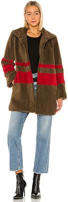 Velvet by Graham & Spencer Evian Stripe Sherpa Coat