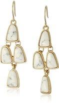 "Kenneth Cole New York Palm Desert"" Semiprecious Stone Chandelier Drop Earrings"