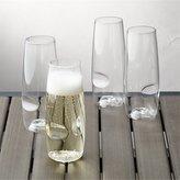 Crate & Barrel Govino ® Shatterproof Plastic Stemless Champagne Glasses, Set of 4