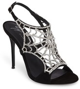 Giuseppe Zanotti Women's Embellished Spiderweb Sandal