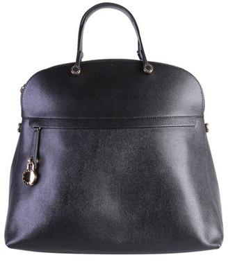 Furla Black Leather Piper Top Handle Bag
