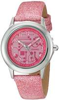 EWatchFactory Girl's 'Discovery Channel' Quartz Stainless Steel Sport Watch, Color:Pink (Model: WDC000006)