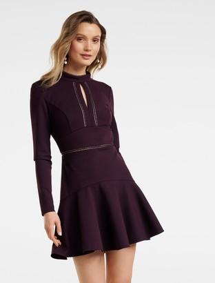 Ever New Viviana Lace Trim Ponte Dress