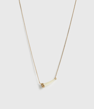 AllSaints Sadie Gold-Tone Mother Of Pearl Necklace