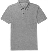 Sunspel Iffley Road Stanton Slim-Fit Mélange Tech-Piqué Polo Shirt