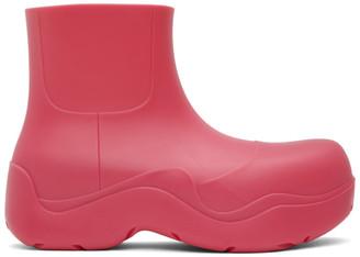 Bottega Veneta Pink Matte Puddle Boots