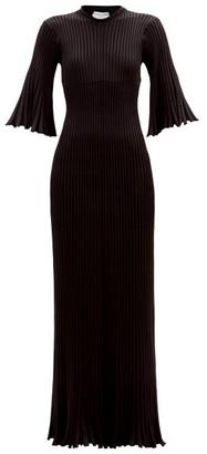 Bottega Veneta Ribbed-knit Maxi Dress - Black