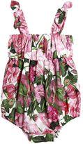 Dolce & Gabbana Roses Print Cotton Muslin Bodysuit