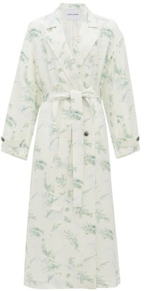 Michelle Waugh The Jany Double-breasted Fern-print Trench Coat - Green Print