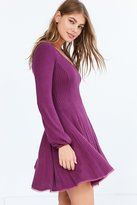 Ecote Topanga Cozy Ribbed Long-Sleeve Mini Dress