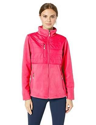 UltraClubs Women's Fleece Jacket with Quilted Yoke Overlay