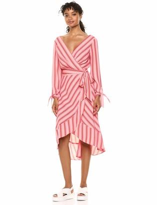 Laundry by Shelli Segal Women's Stripe Wrap Dress