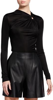 Isabel Marant O-Ring Draped Jersey Top