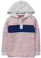 Crazy 8 Stripe Hooded Henley