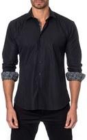 Jared Lang Men's Trim Fit Textured Sport Shirt