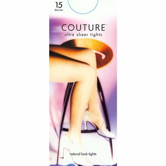 Couture Womens/Ladies Nylon 15 Denier Tights (1 Pair) (X-Large (5ft7a-5ft10a)) (Natural)