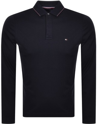 Tommy Hilfiger Slim Long Sleeve Polo Navy
