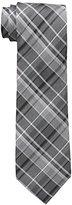 Calvin Klein Men's Graphite Schoolboy Plaid Tie