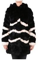 Blugirl Women's Black Leather Coat.