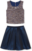 Sequin Hearts 2-Pc. Boucle Fit & Flare Dress, Big Girls (7-16)