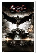 Batman Arkham Knight Teaser Poster Magnetic Notice Board White Framed - 96.5 x 66 cms (Approx 38 x 26 inches)