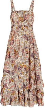 Ulla Johnson Emmaline Printed Midi Dress