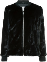Just Female faux fur bomber jacket