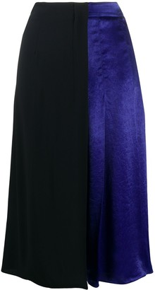 Marni Two-Tone Pleated Skirt