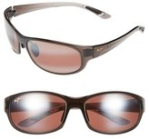 Maui Jim Women's Twin Falls 63Mm Polarizedplus Sunglasses - Gloss Black Fade/ Neutral Grey