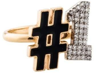 Alison Lou 14K Diamond #1 Ring