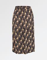 Fat Face Collier Giraffe Midi Skirt