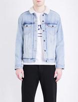 Levi's Faux-sherpa trucker denim jacket