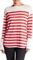 Michael Stars Boatneck Long Sleeve Linen Shirt