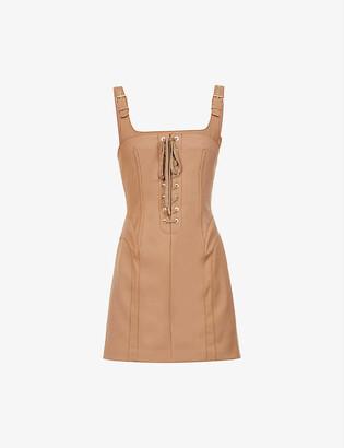 Dion Lee Contour Stitch lace-up cotton-blend mini dress